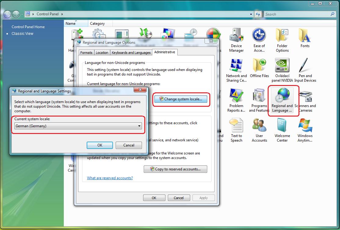 change language in windows 7