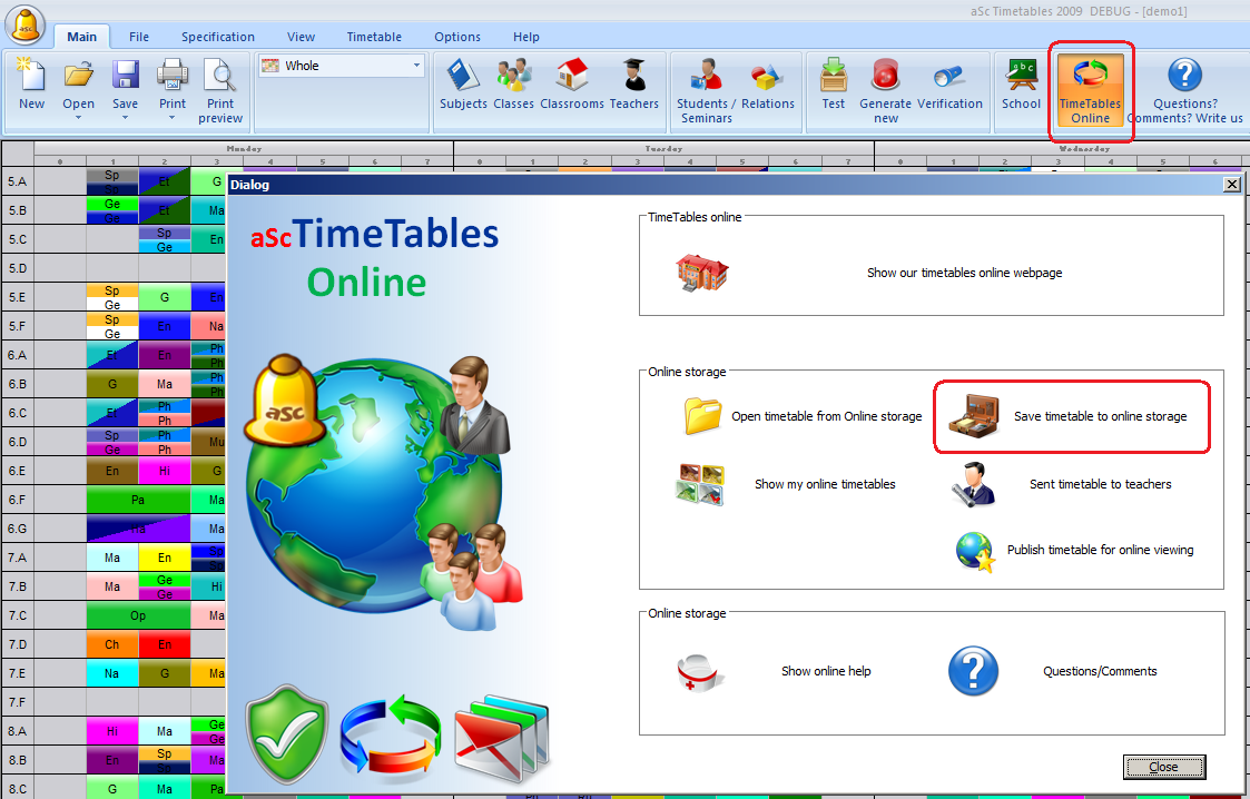 How can I save my timetable to online storage - aSc Timetables: help.asctimetables.com/text.php?id=878