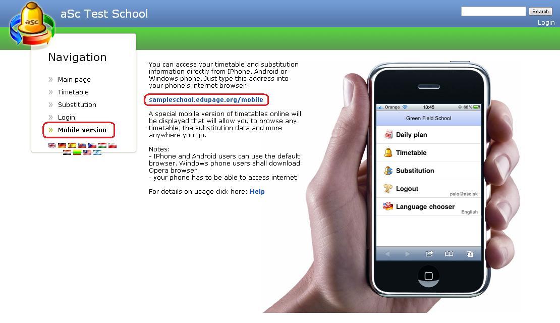 Mobile Version Für Stundenpläne Online Asc Stundenpläne